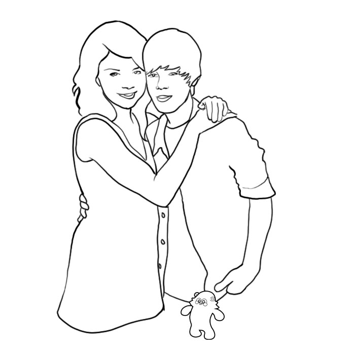 700x700 Justin Bieber Coloring Pages