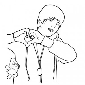 300x300 Justin Bieber Coloring Pages To Print For Free