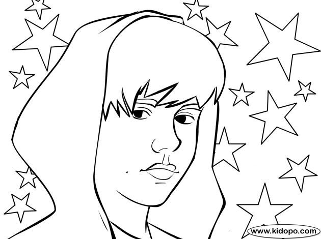 630x470 Coloring Pages To Print Of Justin Bieber Page