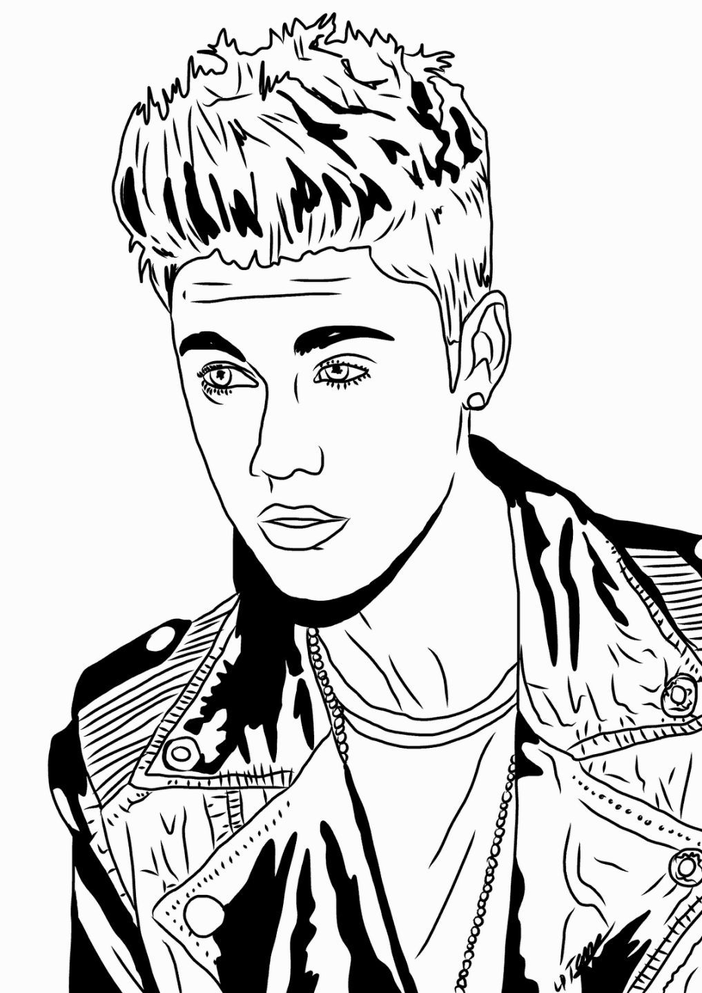 1017x1438 Coloring Sheets Justin Bieber Coloring Pages