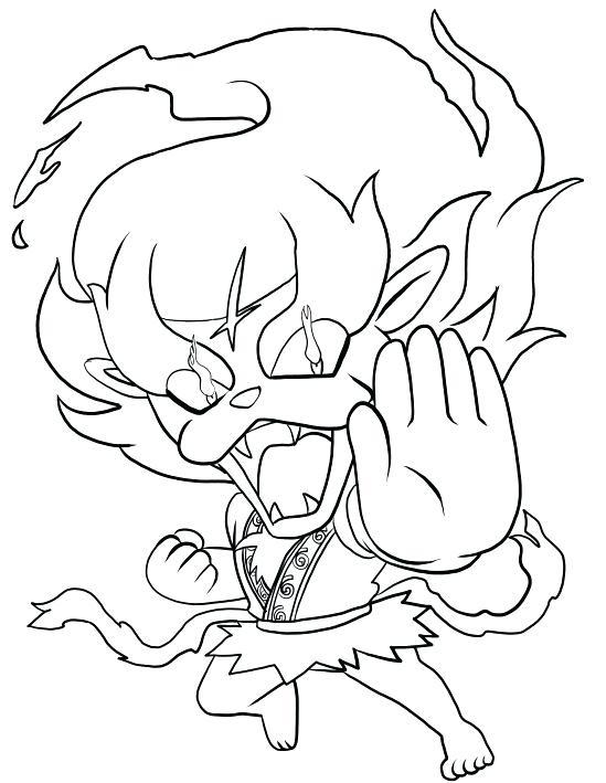 549x709 Yo Kai Coloring Pages Stock Blazion Of Yo Kai Watch Coloring Pages