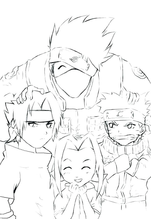 Kakashi Hatake Coloring Pages