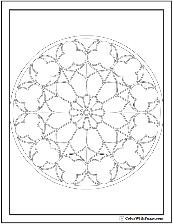 Kaleidoscope Coloring Pages For Adults At Getdrawings Com Free For