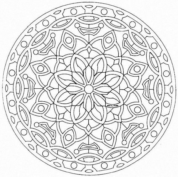 Kaleidoscope Coloring Pages For Adults at GetDrawings ...