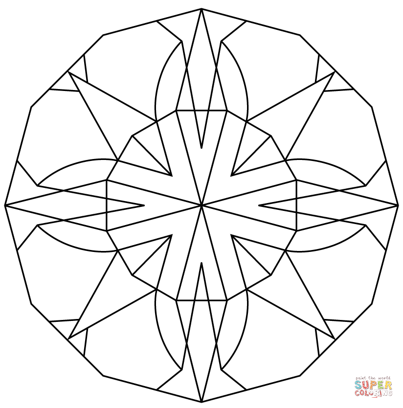 824x834 Adorable Kaleidoscope Coloring Pages Printable To Cure