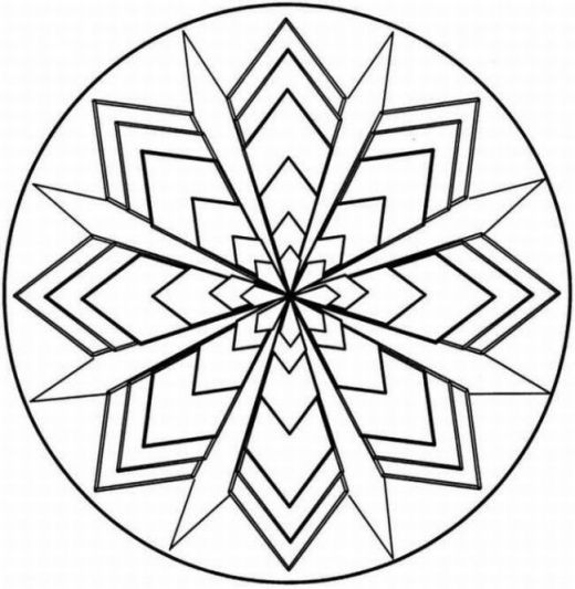 520x533 Symmetry Coloring Design Kaleidoscope Coloring Pages Teaching