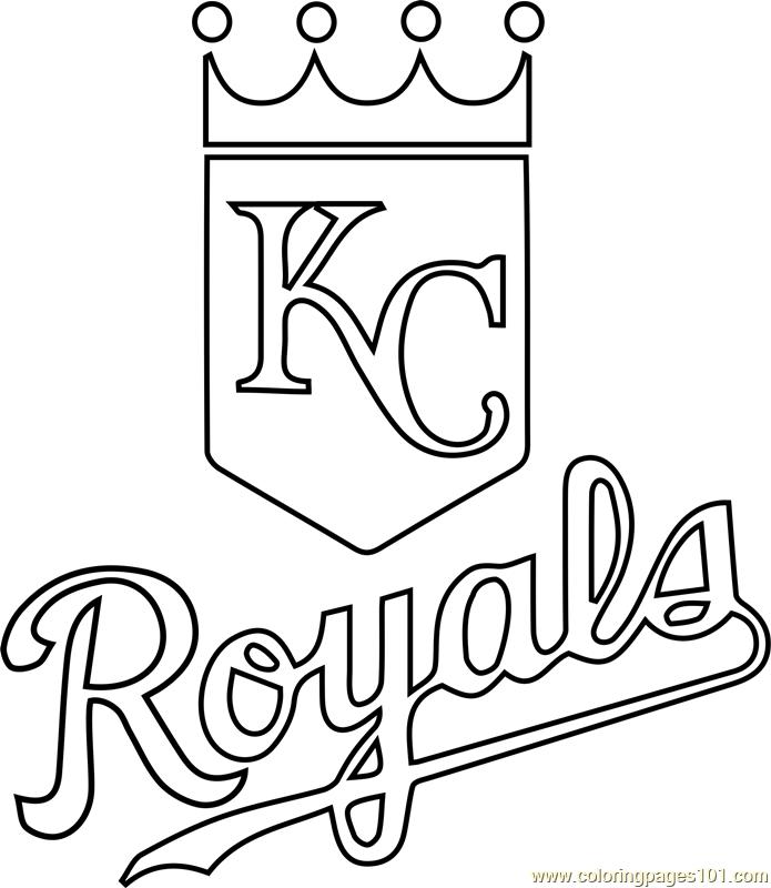 695x800 Kansas City Royals Logo Coloring Page