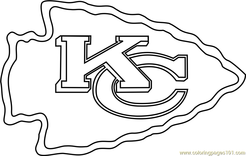 800x508 Kansas City Chiefs Logo Coloring Page