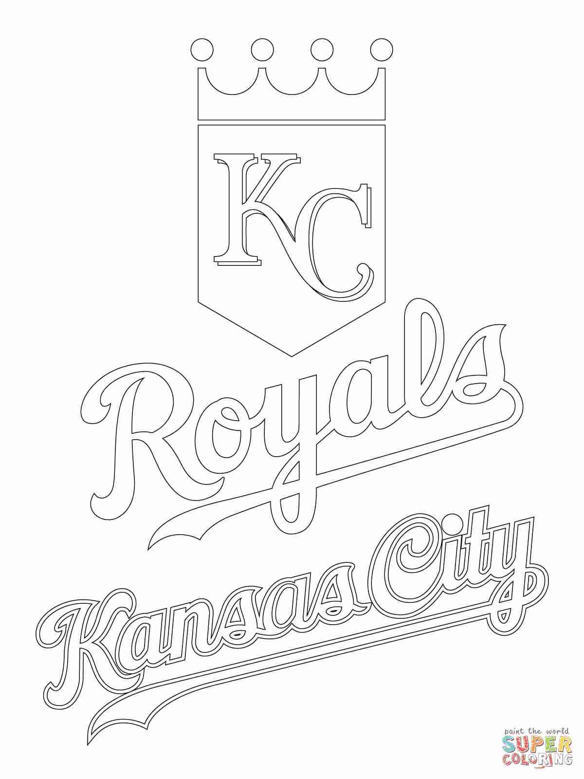1200x1600 Kansas City Royals Logo Coloring Page Free Printable Pages