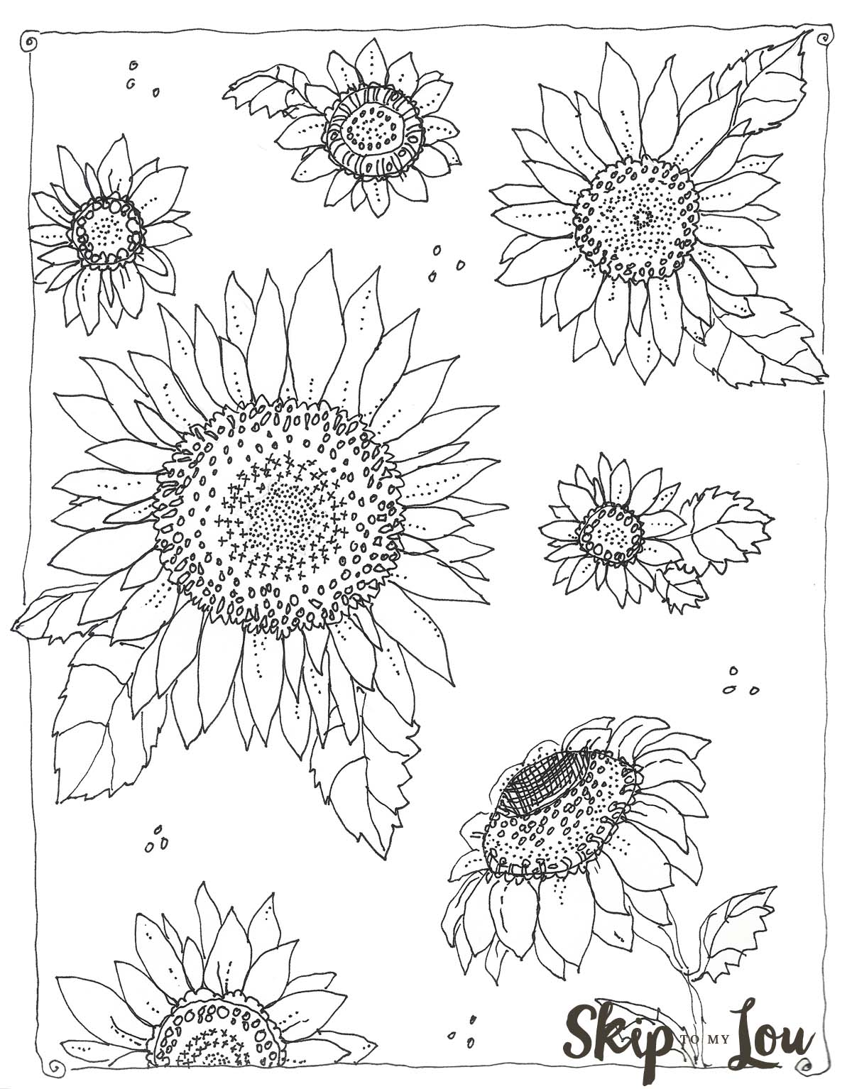 1200x1534 Kansas Day Sunflower Coloring Page Skip To My Lou