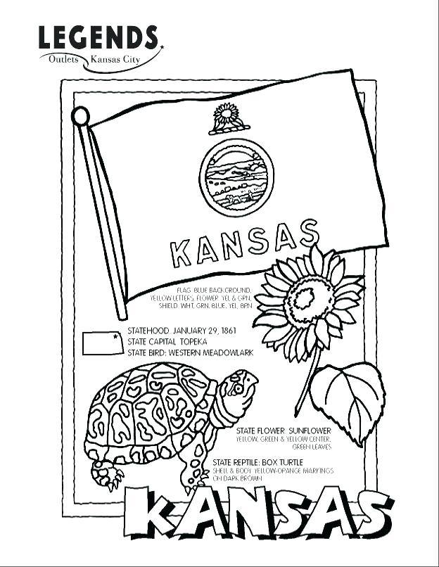 624x806 Kansas Map Coloring Pages