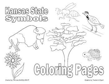 350x270 Kansas State Symbols Coloring Pages Dowloaded