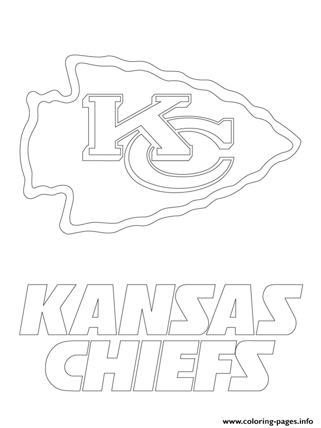 640x853 Kansas City Chiefs Logo Football Sport Coloring Pages Printable