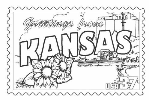 497x332 Usa Map Coloring Page New Kansas State Flower Coloring Page