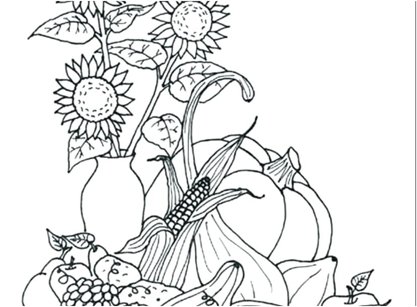 827x609 Kansas State Symbols Coloring Pages Superb Fall Landscape Page