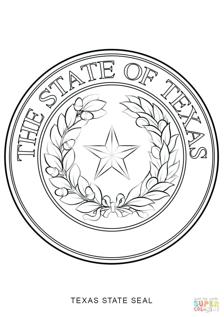 725x1024 Seal Coloring Pages State Seal Coloring Page Free Printable