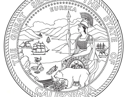 440x330 Exelent Kansas State Flag Coloring Page Adornment