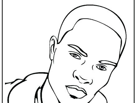 440x330 Famous People Coloring Pages Kanye West