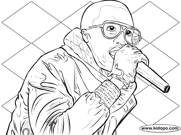 630x470 Kanye West Coloring Page