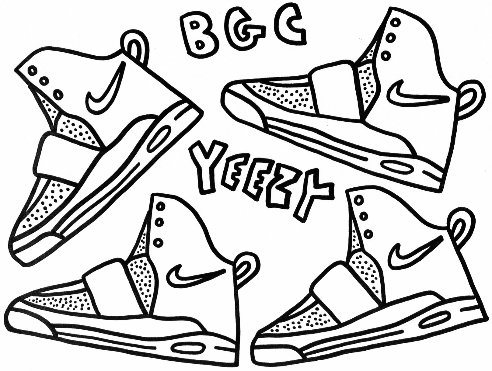 1617x1220 Air Yeezy And Ipod Touch Coloring Sheets Westcheddar