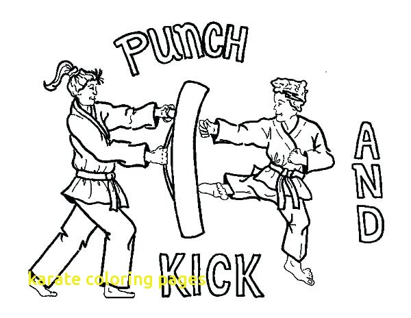 600x464 Karate Coloring Pages With Karate Coloring Page Karate Kick