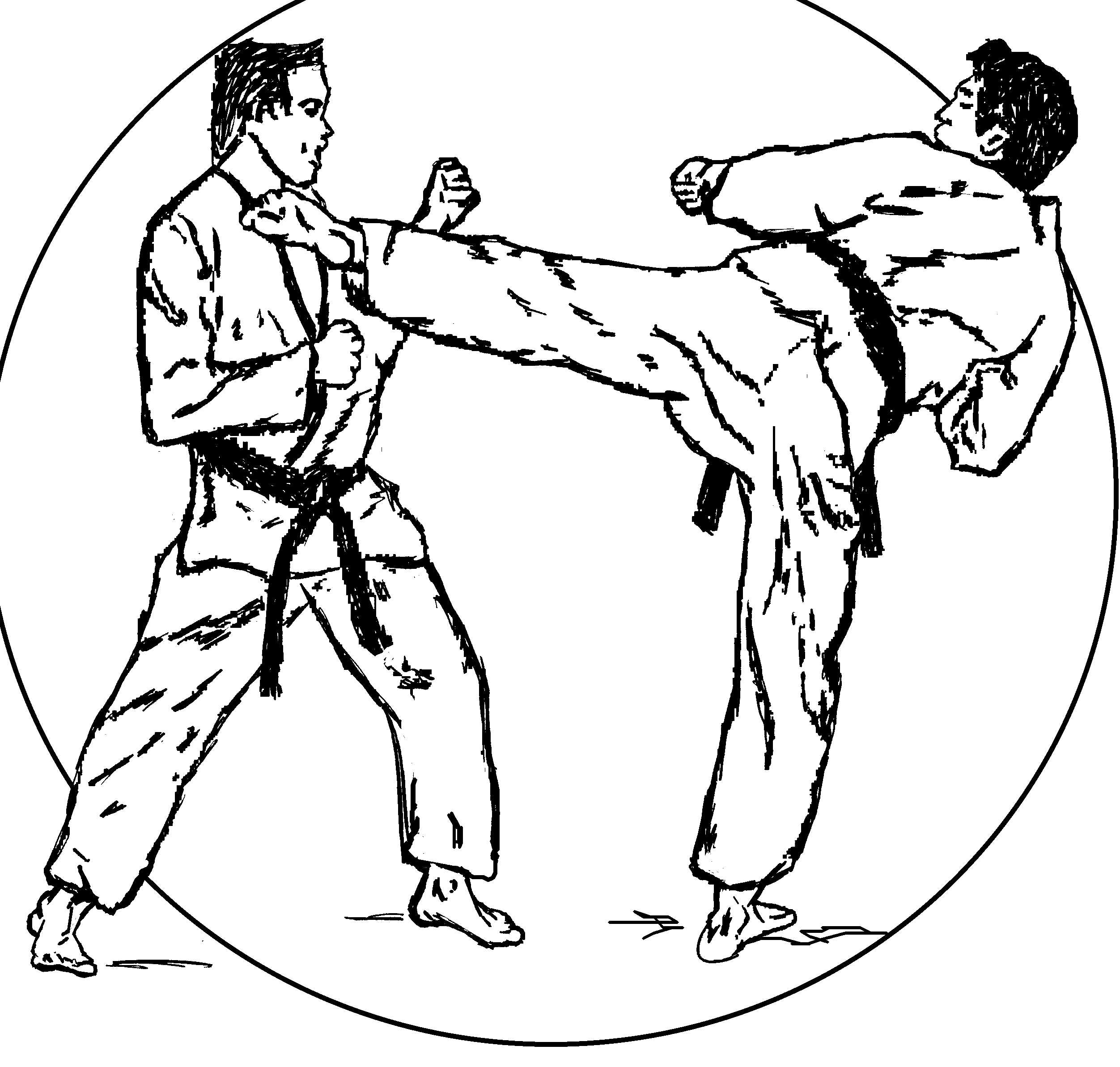 2504x2386 Karate Coloring Pages Download And Print For Free