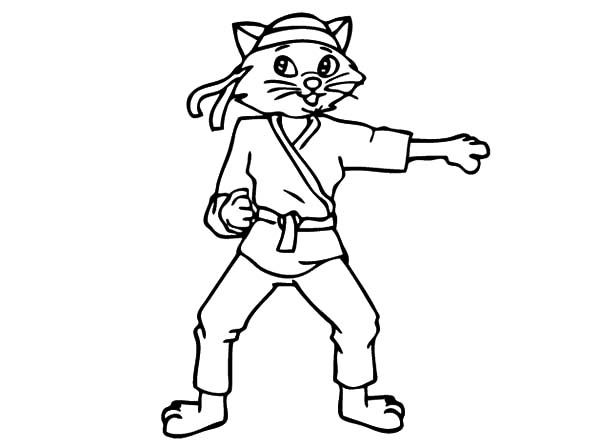 600x448 Kitty Karate Coloring Pages Batch Coloring