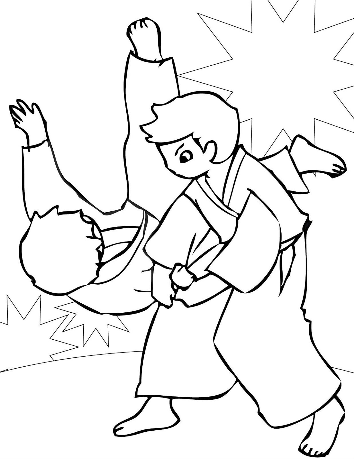 1236x1600 Powerful Free Printable Karate Coloring Pages