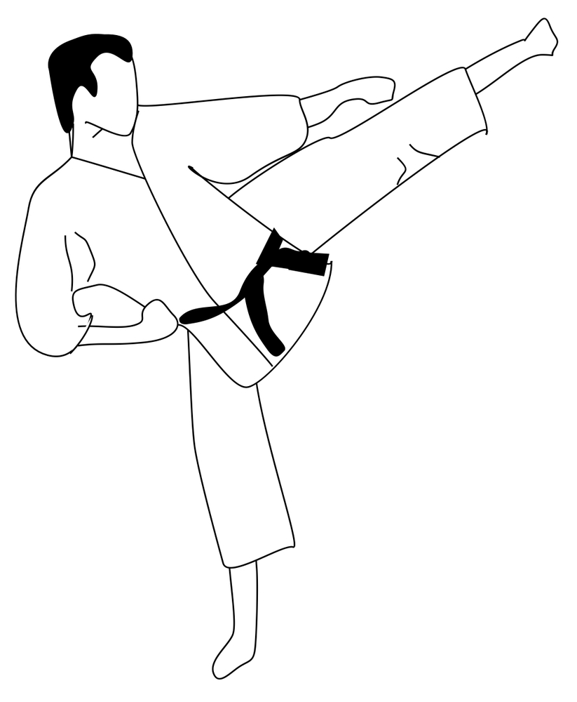 823x1000 Karate Coloring Page Coloring Page