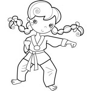 300x300 Karate Kid, Young Girl Karate Kid Coloring Page Kid Karate