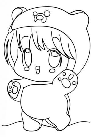 333x480 Kawaii Animal Coloring Pages Kawaii Chibi Finn Coloring Page Free