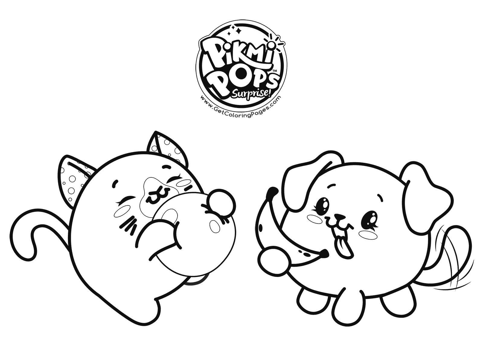 1600x1200 Kawaii Animals Coloring Page