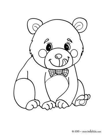 364x470 Kawaii Bear Coloring Page More Forest Animals Coloring Sheets