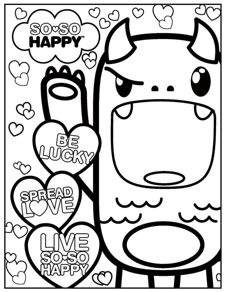 736x952 Kawaii Coloring Pages To Download And Print For Free
