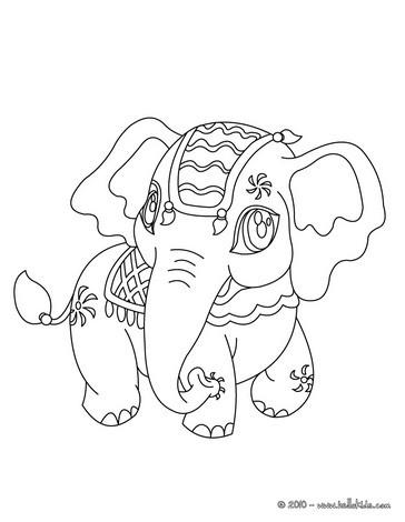 364x470 Kawaii Elephant Coloring Page Vinyl Designs Kawaii