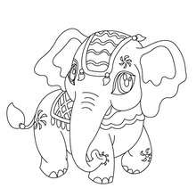 220x220 Kawaii Elephant Coloring Pages