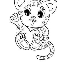 220x220 Kawaii Tiger Coloring Pages