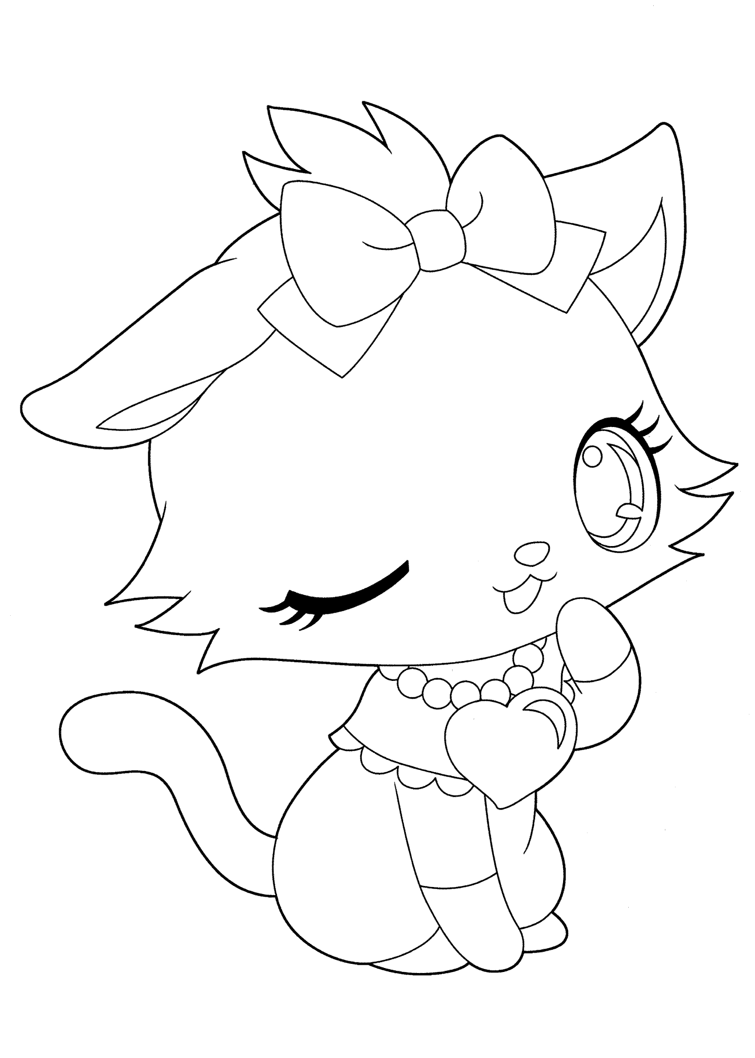 1483x2079 New Cutekawaii Animal Coloring Pages Design Printable Coloring Sheet