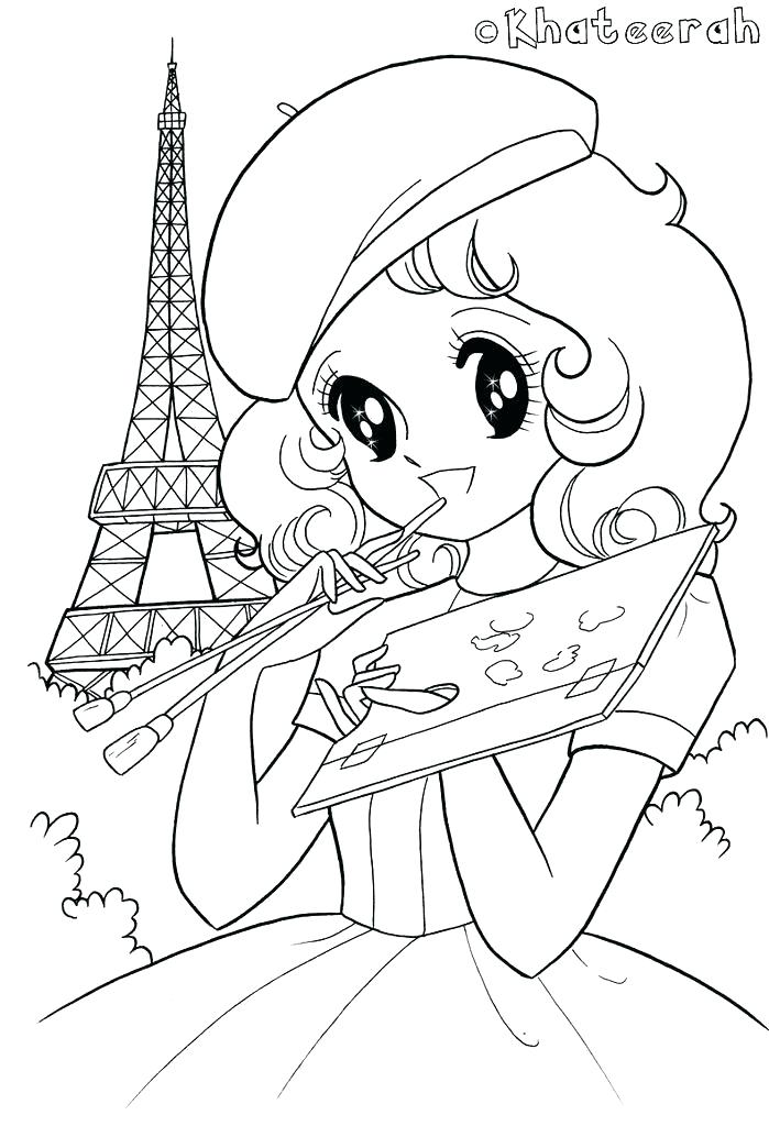 picture relating to Printable Kawaii Coloring Pages called Kawaii Coloring Internet pages at  Absolutely free for specific
