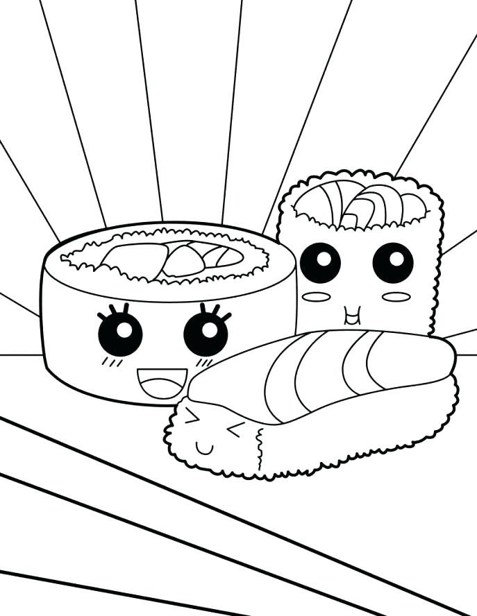 687x888 Kawaii Coloring Pages Coloring Pages Also Sushi Coloring Pages Com