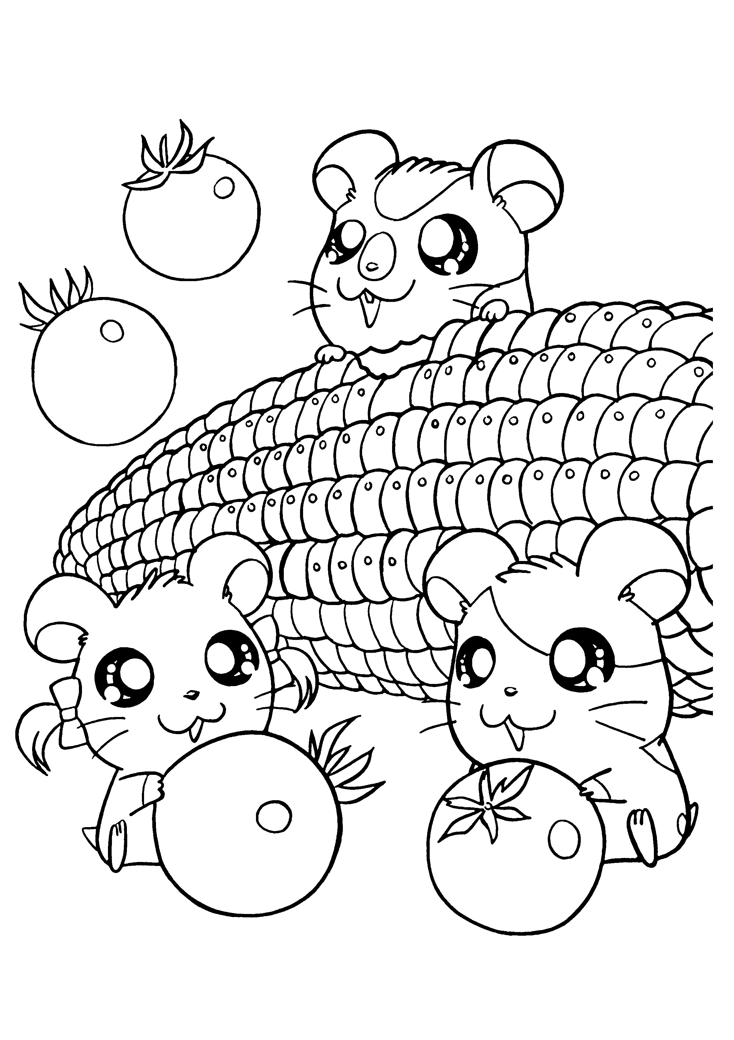 2400x3400 Kawaii Coloring Pages Free Fresh Food Coloring Pages Healthy