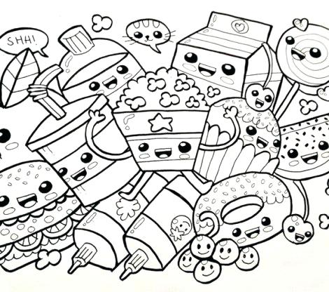 470x416 Kawaii Coloring Pages Zoom Kawaii Cat Coloring Pages