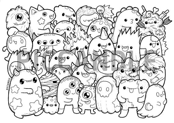 photo regarding Printable Kawaii Coloring Pages known as Kawaii Coloring Web pages at  Cost-free for specific