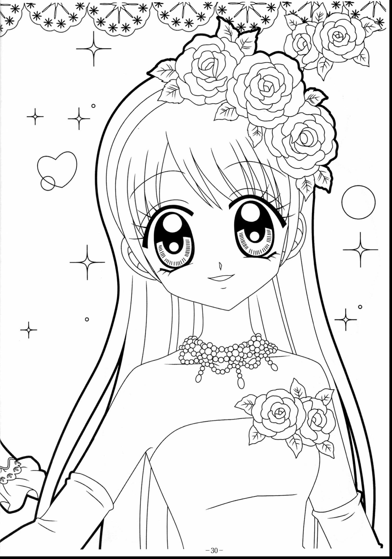 1504x2142 Unbelievable Kawaii Anime Girl Coloring Pages With Kawaii Coloring