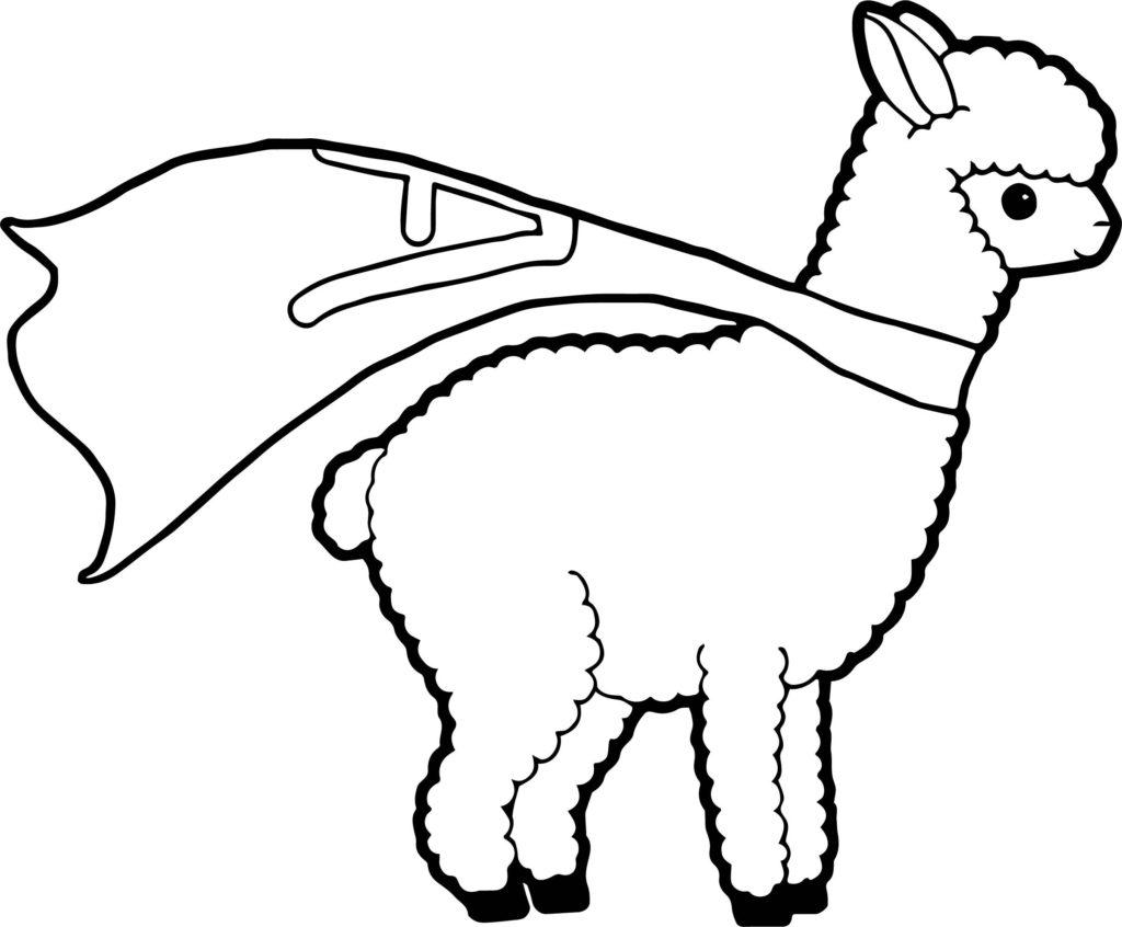1024x846 Kawaii Coloring Pages Free Fresh South American Llama Page