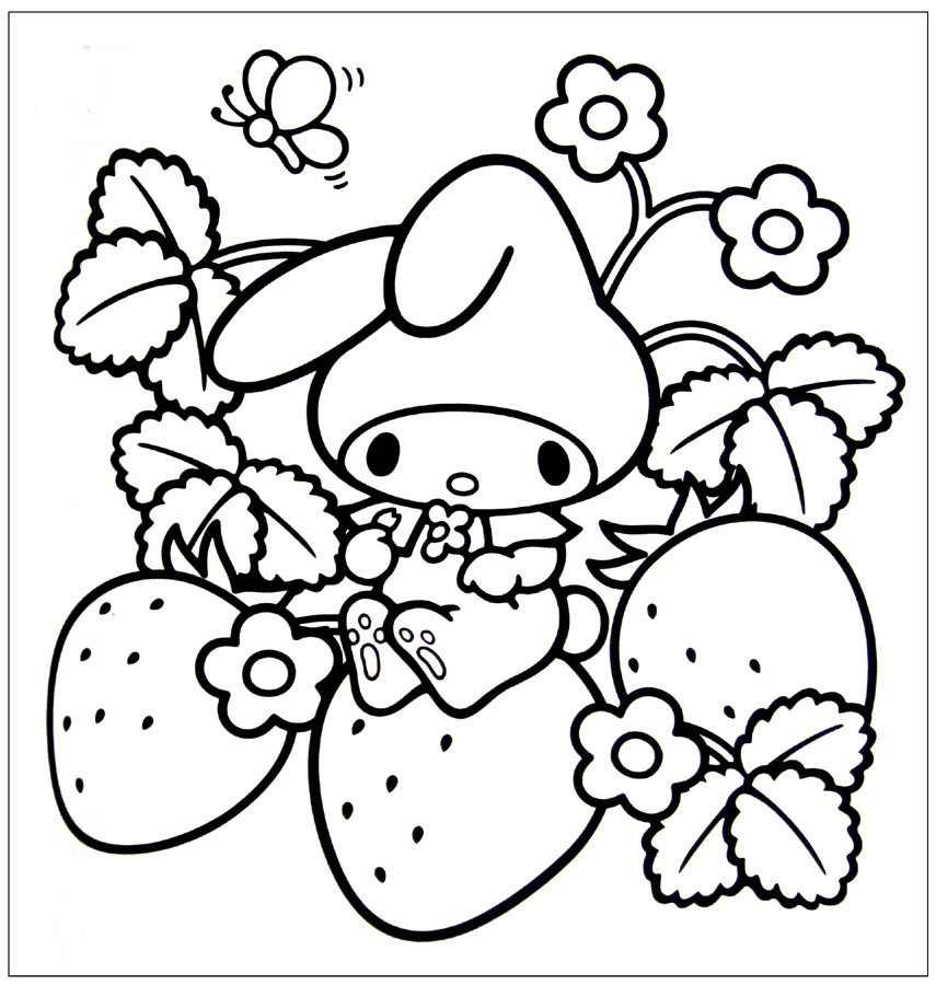 Kawaii Food Coloring Pages