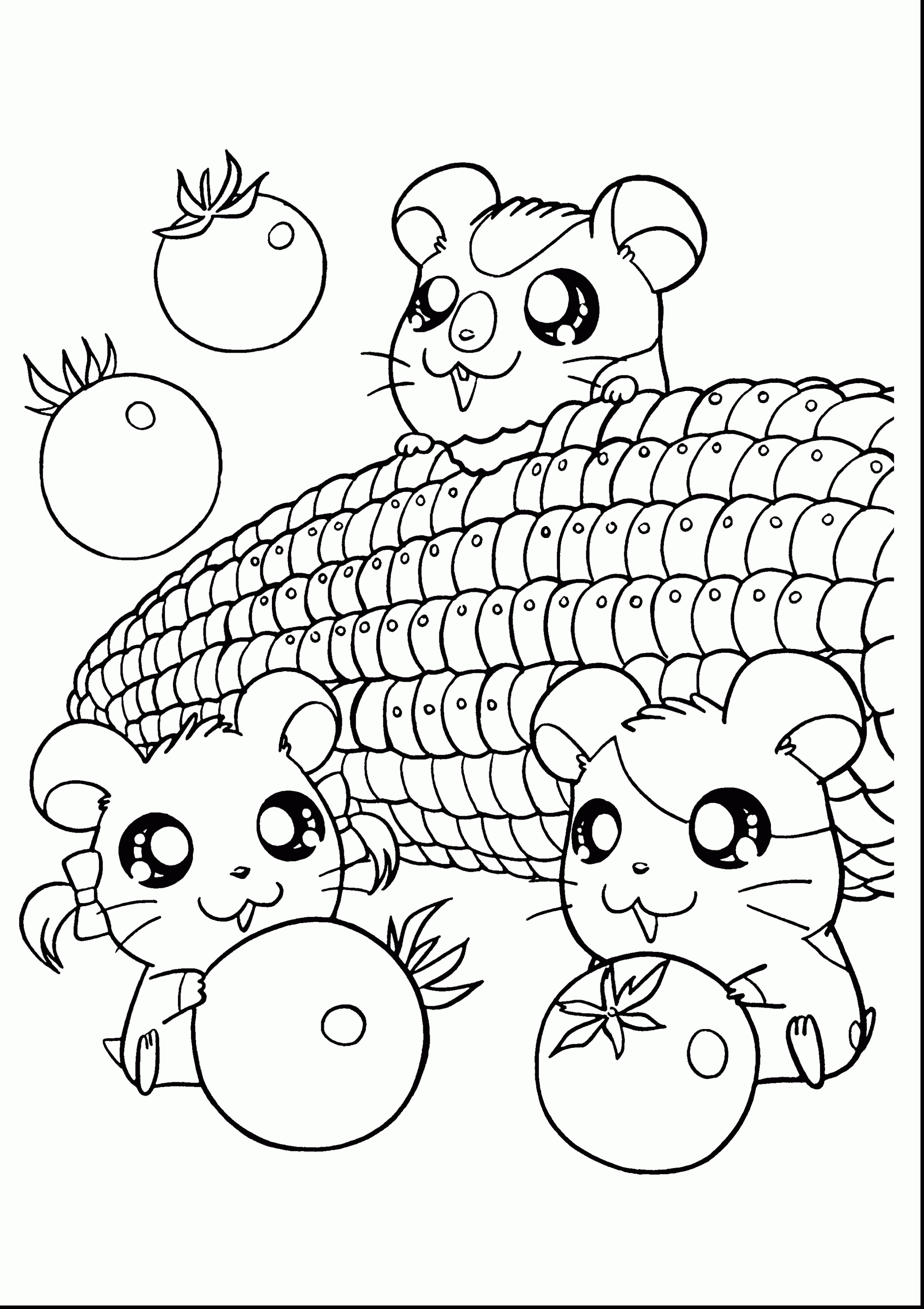 Kawaii Food Coloring Pages At Getdrawings Com Free For Personal
