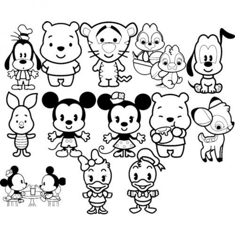 755x755 Grab This High Quality Disney Kawaii Coloring Page Free To Print