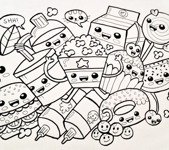 678x600 Kawaii Coloring Pages Printable Coloring Pages