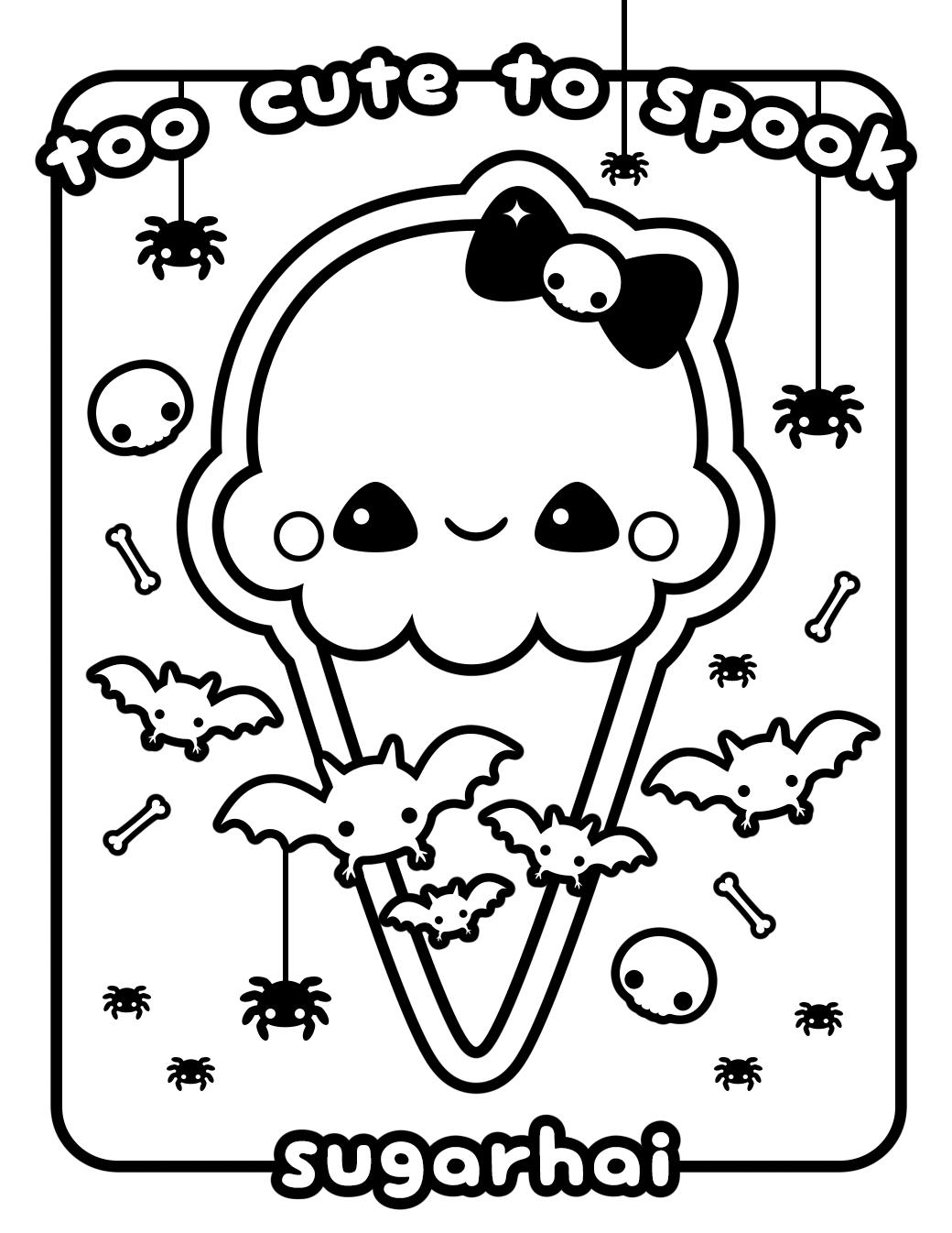 Kawaii Printable Coloring Pages at GetDrawings | Free download